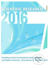 Scientific Research – 2016: Proceedings of articles the international scientific conference -